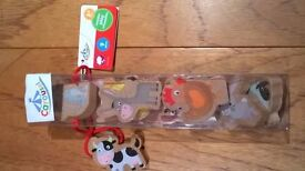 Wooden play characters. Brand new in sealed box