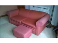 3-seater sofa with matching footstool.