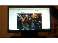 LG monitor: 19 inch, LED 20EN33, good conditionfor sale forsale for game, or office work