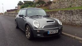 Mini Cooper S R53 metalic grey blue interior full leather cruise control all new brakes and service