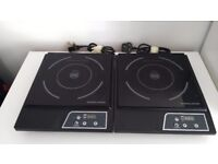 2 x single Andrew James Digital Electric Induction Hob 2000 Watt - used