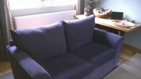 three piece suite - purple / aubergine - 3 seater, 2 seater and armchair