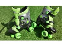 No Fear Adjustable Childrens/Junior Roller Skates Size 1 -4