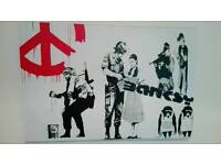 Banksy large cancas