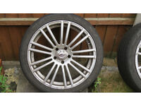 """18"""" alloys with tyres, 225/40ZR18, 5 stud, 8J x 18 H2 with tyres"""