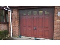 Automatic domestic garage door (any reasonable offer, buyer to dismantle and remove). 8ft w 6.6ft h