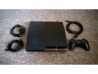 PS3 Slim 250GB + 6 PS3 Games + Controller + HDMI Cable + Power Cable + Controller Cable