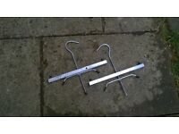 Roof rack ladder clamps