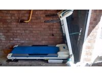 Electric treadmill with instruction manual