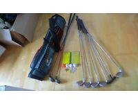 Set of Golf Clubs & Caddy Bag - £20