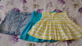 Girl's Skirts x 3 Abercrombie and George Age 13-14 Years
