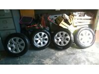"4 Alloys 15"" 4x108 + All New Tyres"