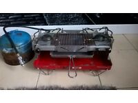 NICE RETRO TILLEY TITAN GAS COOKER WITH GRILL AND GAS BOTTLE