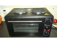 Mini oven with double hob