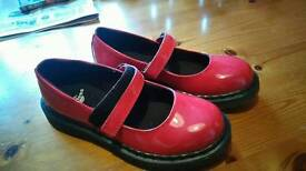 Girls size 1 doc martins shoes never worn