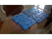 Four blue freezer blocks perfect central London bargain