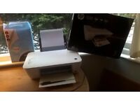 HP DESKJET 1510 printer&scanner all in one + ink cartilages + paper
