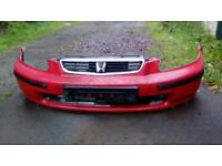 Honda civic 3 Dr red front bumper - grill