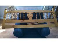 kingsize solid pine headboard
