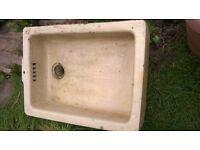 PROMISED Ceramic Sink for garden - bird bath or trough. St werburghs