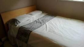 Beech Double Bed & Triple wardrobe