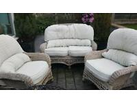 Wicker chairs full set
