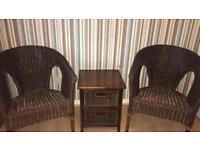 Wicker vintage furniture set