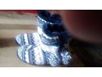 M&S wooly boot slippers size 8