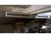 Oven extractor canopy, nearly new - 3 metres wide - plus ducting - central London bargain
