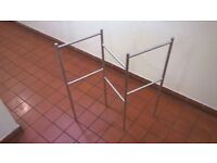 Brushed steel small drying rack excellent central London bargain
