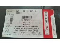 WWE live ticket