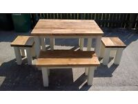 HAND MADE TV UNITS,BEDS,DRESSER,DINING/COFFEE TABLES,SIDEBOARDS,GARDEN&PATIO BENCHES FROM £49 SEE AD