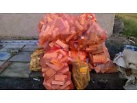 KILN DRIED FIREWOOD winter pack 25X 50 KG bags logs/ 5 bags kindling /plus 5 boxes lighters