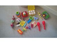 Bundle toddler toys teletubbies tomy eggs night garden musical instruments