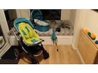 iCandy Peach Sweet Pea pushchair and carrycot