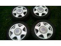 4 vw alloys with tyres