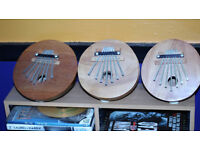 Thumb Piano's - £10 each or all three for £25 ovno