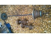 weights set barbell dumbbells set 70 kg