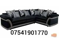 Large black SABRINA BRAND NEW corner sofa**Free delivery**