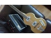Blonde Beatle bass by Alden