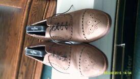 Beige colour Swede Leather Brogue Shoe Size U.K. 7.5