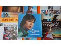 HUGE CLIFF RICHARD VINYL COLLECTION + RARE BOX SET +THE SHADOWS 13 LP'S TOTAL