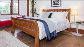 Nancy Smillie Solid Wood King Size Bed NOW SOLD