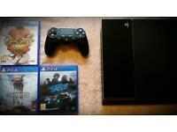 Ps4 + 3 games for collection