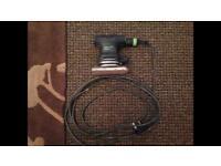 Festool RTS 400. Palm sander. Dust extraction sanding. Dustless