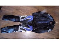 Motorcycle IXS Ray Two Piece Leather Suit