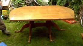 PINE TABLE. heavy duty. Dining room etc