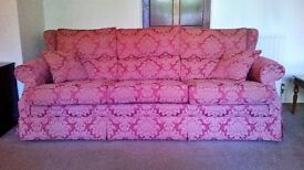 Lovely three seater sofa for sale. Excellent quality & condition, very comfortable.
