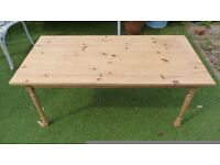 Pine coffee table, unwaxed. solid and in good condition