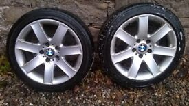 """BMW 3series E46 17"""" Alloy Wheels for winter tyres or spares £30 for 2"""
